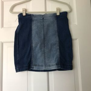 free people pencil denim skirt never worn